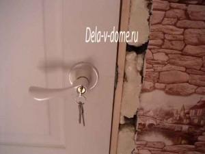 Врезной замок в межкомнатной двери