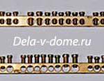 Латунные шинки с винтовыми клеммами для подключения электропроводов