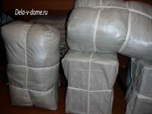 Упакованный грузобагаж для отправки по РЖД