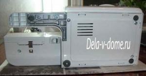 Дно швейной машинки крепится шурупами