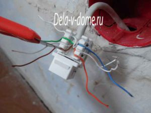 Подсоединение проводов витой пары