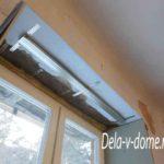 Крепеж профиля для гипсокартона верхнего откоса окна